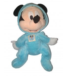 Peluche doudou Mickey Grenouillere Pyjama bleu 30 mc Disney Nicotoy