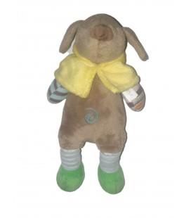 Doudou chien gris cape jaune Happy Horse