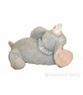 Peluche doudou DUMBO L'ELEPHANT VOLANT Disney Store L 28 cm H 18 cm Colerette
