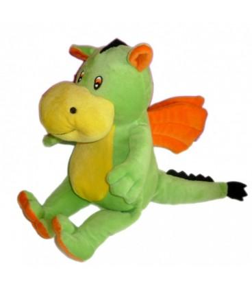 Doudou peluche dragon vert jaune orange ALTHANS CLUB 28 cm