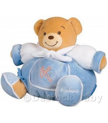Doudou OURS boule KaLOO bleu blanc Sailor Chubby Bear Patapouf Medium H22 cm