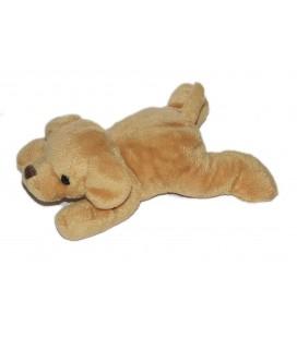 Doudou chien beige Max & Sax Carrefour 20 cm