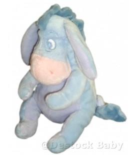 Doudou peluche BOURRIQUET Disney Baby Nicotoy Bleu clair ciel H 21 cm