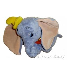 Peluche doudou DUMBO L'ELEPHANT VOLANT Disneyland Paris L 22 cm Colerette orange