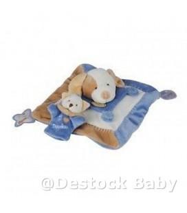 DOUDOU ET COMPaGNIE Chien anniversaire bleu beige Teether Happy Birthday Dog DC1509