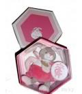 DOUDOU ET COMPaGNIE Lapin Célestine rose Hochet DC1444 15 cm