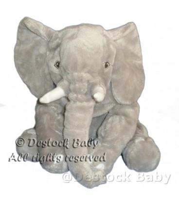 Peluche doudou ELEPHANT Kapplar Gris IKEa 30 cm Etiqu. Tissu