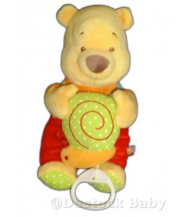 Doudou Peluche Musicale WINNIE Disney Baby Nicotoy Escargot H 26 cm