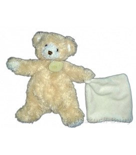 Doudou OURS beige Mouchoir Goldy BABY NAT' 25 cm
