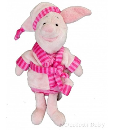 Doudou peluche Porcinet peignoir Disney Nicotoy 30 cm 587/5033