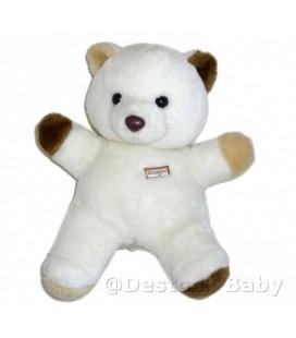 Peluche OURS blanc marron beige BOULGOM H 30 cm