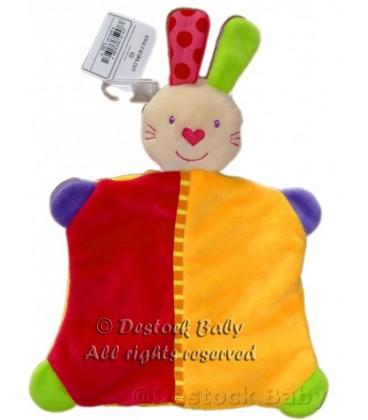 Doudou plat LaPIN orange rouge C ET a CETa Baby Club