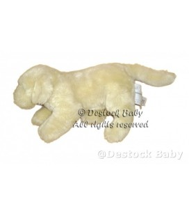 Doudou peluche chien beige clair Creme IKEA Minnen Hund 35 cm