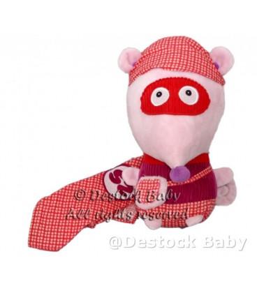 Doudou pleluche Souris Ze Super Zeros ZaZa The Mouse Plush Baby Comforter 26 cm