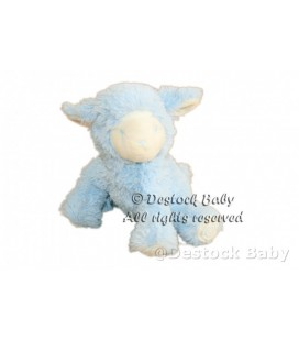 Doudou peluche Mouton bleu Avene Pediatril L 18 cm