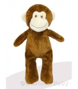 Peluche Doudou singe marron MAX & SAX 38 cm