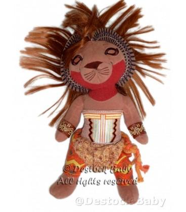 Doudou peluche Figurine LE ROI LION Walt Disney Theatre Mogador 28 cm Broadway Musical