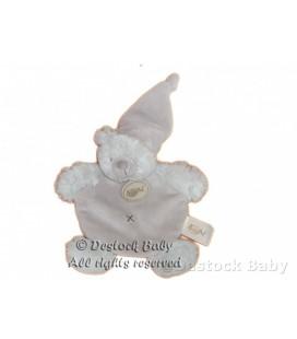 Doudou plat OURS gris BaBY NaT Babynat DETC Ourson ca¢lin