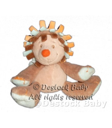 Doudou HERISSON marron bleu orange NaTTOU Grelot 13 cm