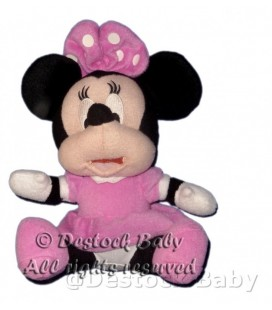 Doudou peluche MINNIE rose assise Disney H 25 cm