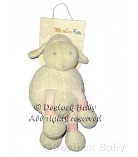 Doudou Poupée MOUTON agneau blanc rose MOULIN ROTY ref 643024 Sheep Doll