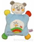 Doudou OURS Panda Koala bleu Pommette semi-plat coccinelle