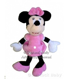 Doudou peluche MINNIE rose assise Disney H 35 cm Play by Play