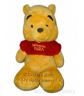 Doudou peluche WINNIE L'OURSON Pull rouge DISNEY Nicotoy Assis 30 cm