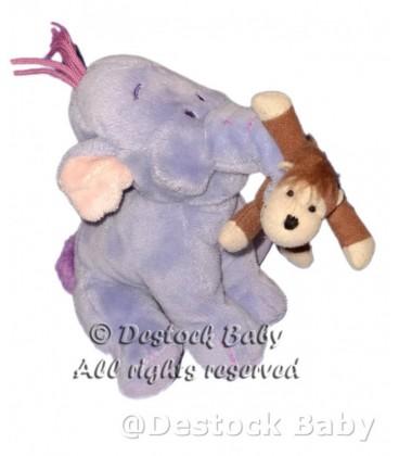 Peluche doudou Lumpy avec doudou Singe H 15 cm Disney Nicotoy