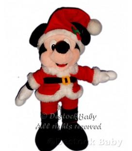 Doudou peluche MICKEY Déguisé en Père Noël H 38 cm Disneyland Paris Disney Resort