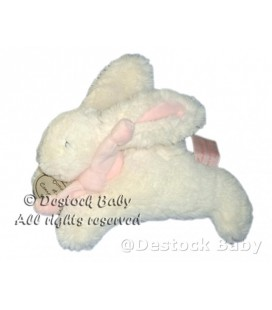 DOUDOU ET COMPAGNIE Lapin blanc rose PM 16 cm Mon Tout Petit