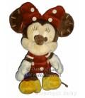 Doudou peluche MINNIE Boutons Disney Nicotoy H 35 cm Robe bordeaux