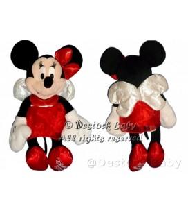 Doudou peluche MINNIE Robe rouge En fée Disney Store 2012 H 42 cm Ailes dans le dos Papillon