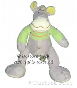 Doudou Girafe Cheval Poney Mauve vert MOTS D'ENFaNTS Nicotoy H 27 cm