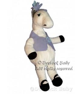 Peluche doudou Cheval blanc Jument Ikea Klappar Circus 42 cm
