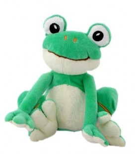 Doudou Grenouille verte blanche CP INTERNaTIONaL - 20 cm