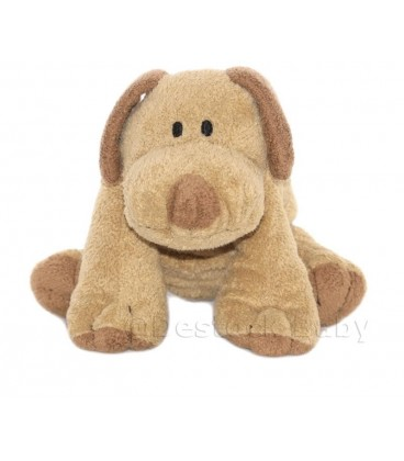 Doudou peluche CHIEN marron Nicotoy The Baby Collection Kiabi 24 cm
