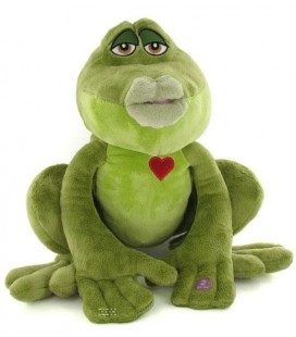 Peluche Interactive Naveen La princesse et la Grenouille Parle - VERSION ANGLAISE - The Princess and the Frog Speaking plush