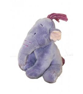 Doudou peluche Lumpy Efelant Elephant mauve Winnie 19 cm Disney Nicotoy 587/3490