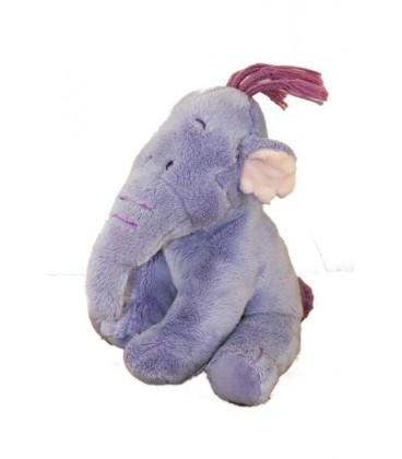 Doudou peluche LUMPY Efelant Elephant mauve Winnie 18 cm Disney Nicotoy 587/3490