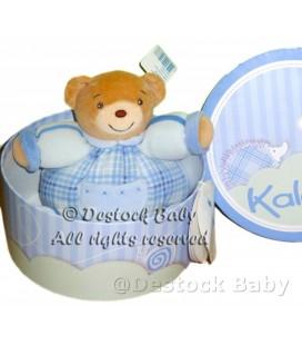 Doudou OURS bleu KaLOO P'tit Ourson Blue Small Chubby Bear 9610837 H 16 cm