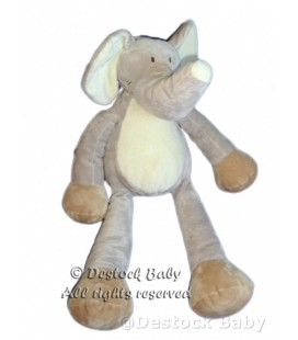 Doudou Peluche ELEPHANT Gris NICOTOY 40 cm
