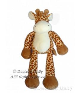Doudou peluche girafe marron blanc Nicotoy 40 cm 585/3003