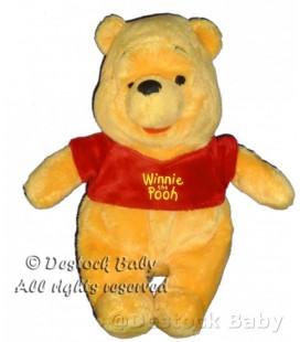 Doudou peluche Winnie The Pooh DISNEY Nicotoy Disney 24 cm Pull rouge