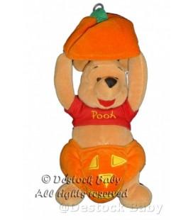 Doudou WINNIE Pumpkin Pooh Citrouille Halloween 25 cm Disney Store