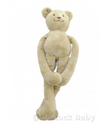 Doudou OURS beige JACADI - Scratchs aux pattes - 30 cm