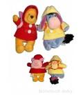 LOT Doudou peluche WINNIE L'OURSON The Pooh Bourriquet Sac à dos Porcinet Disneyland 20 cm