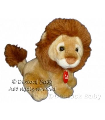 DOUDOU PELUCHE LION BEIGE MARRON TRUDI H 20 CM
