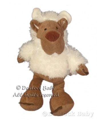 Doudou peluche LOUP Déguisé mouton agneau blanc NICI H 35 cm