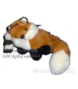 Doudou peluche RENARD Davy Crockett 16x18 + queue 20 cm Disney Jemini VINTAGE Collector